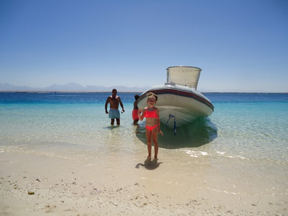 Three islands trip in Hurghada by speedboat