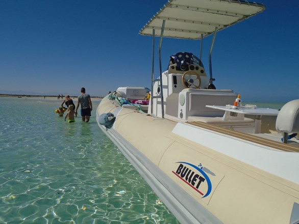 three islands tour in Hurghada by speedboat