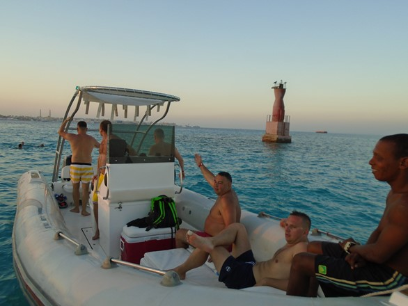 sunset snorkeling trip with a speed boat