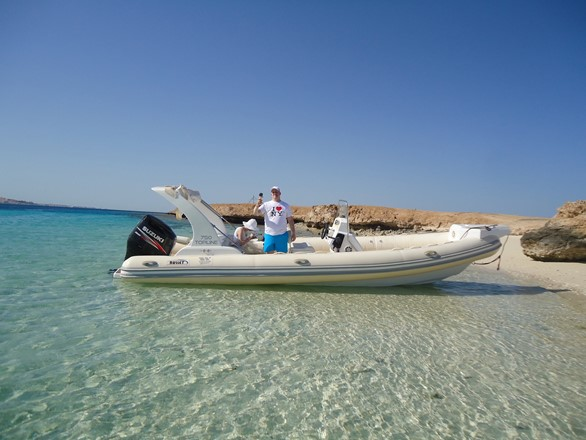 Explore islands by private speedboat in Hurghada
