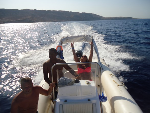 sunset snorkeling trip with a speed boat in Hurghada