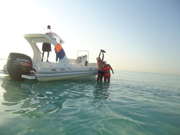 sunset snorkeling trip with Bullet Speedboats